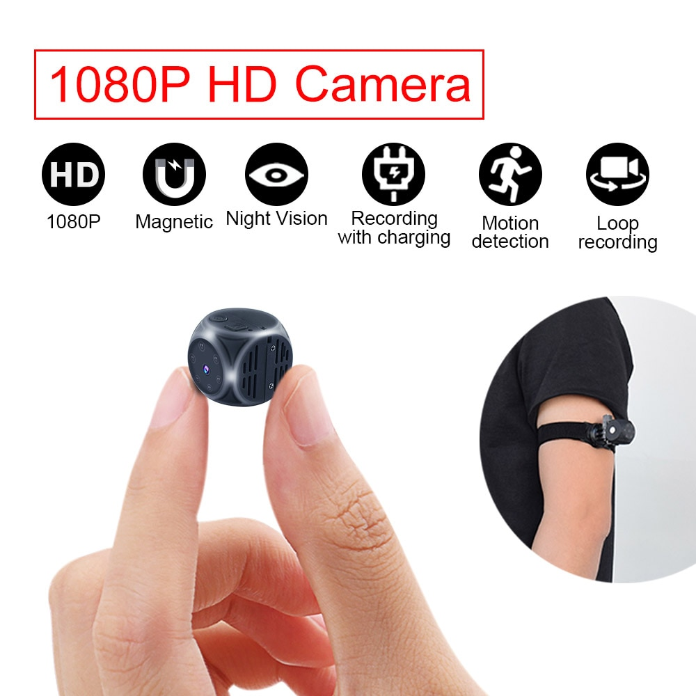 Seivde الاستشعار للرؤية الليلية كاميرا صغيرة HD كاميرا 1080P رصد كاميرا الأمن الصغيرة مراقبة سرية مسجل فيديو