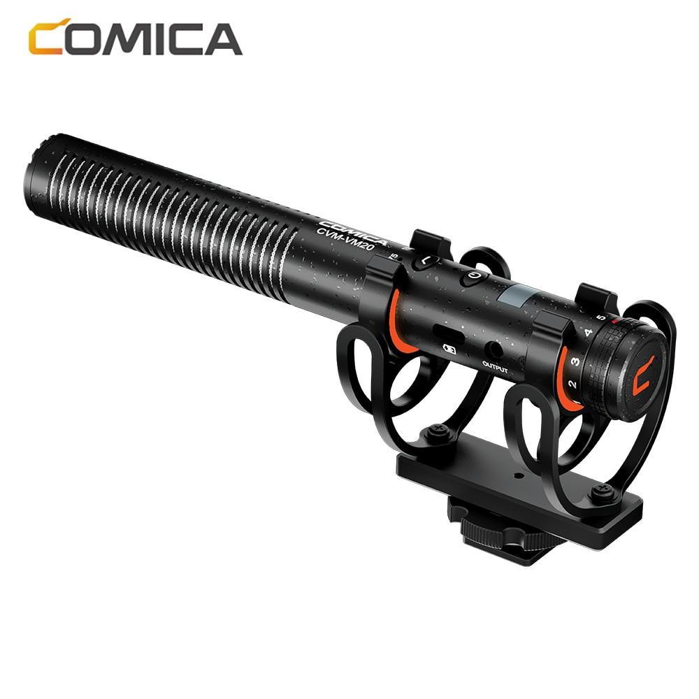 CVM-VM20 المهنية فائقة قلبي المكثف بندقية ميكروفون للكاميرا/الهاتف الذكي Mic ل مقابلة تصوير الفيديو