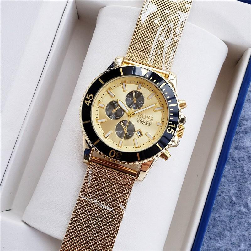 Luxury Brand quartz Mens women Watches Quartz Watch Stainless Steel Strap men's wristwatch classic business dress men's watch 45