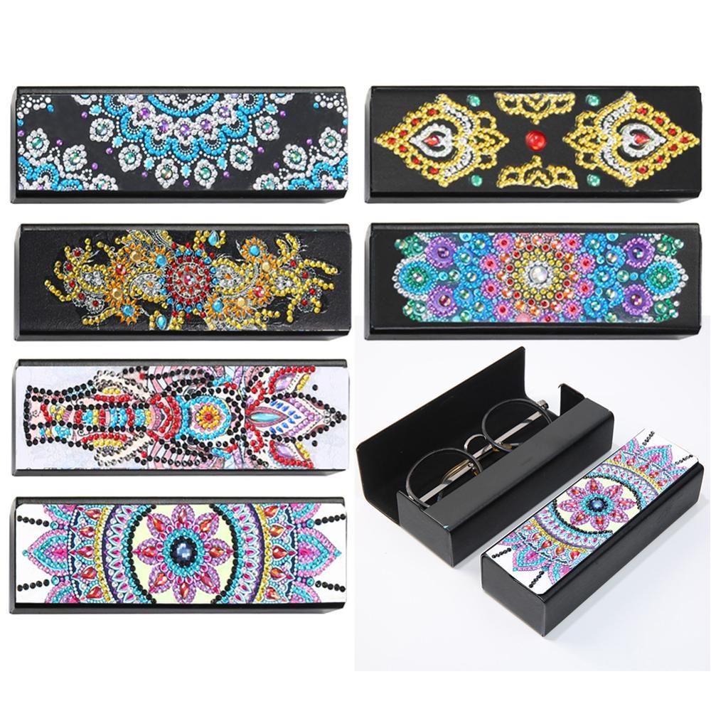 DIY Специальная форма, алмазная картина, коробка для хранения очков, кожаные солнцезащитные очки, чехол для хранения, Алмазное ремесло, подарок