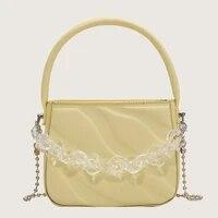 korean style handbag female small shoulder messenger bag big wave water pattern design texture embossed handbag student gift