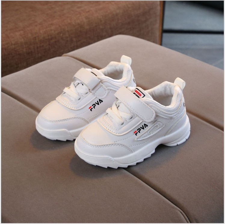 autumn 2018 boys girls lace up fashion sneakers baby toddler little big kid genuine leather trainers children school sport shoes Spring Boys Girls Fashion Sneakers Baby/Toddler/Little Kids Leather Trainers Children School Sport Shoes Soft Running Shoes