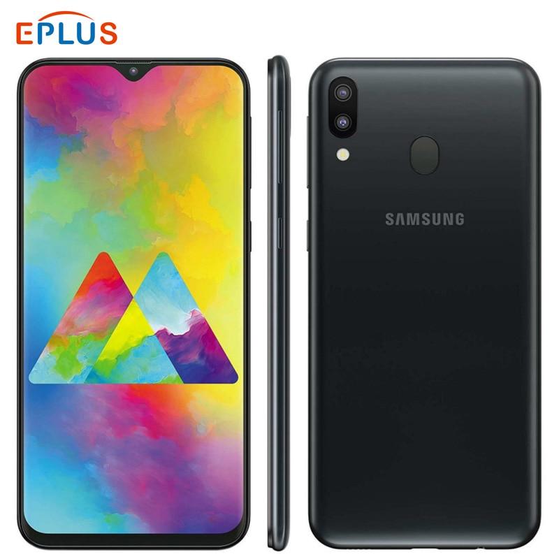 """Marca New Global Samsung Galaxy M20 M205F/DS Dual SIM Do Telefone Móvel 5000mAh 6.3 """"Exynos 7904 3 GB/32 4GB RAM GB/64 GB ROM 4G Telefone"""