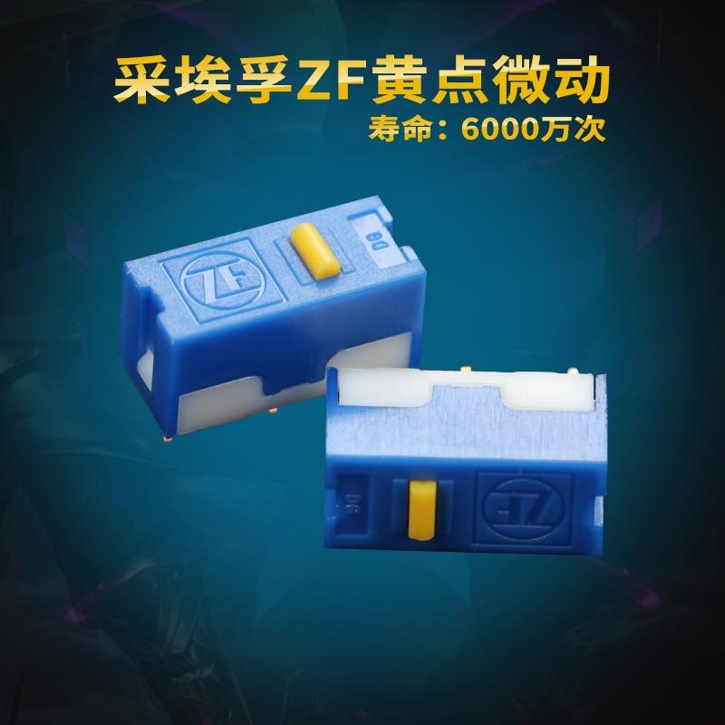 2pcs ZF gold dot mouse micro switch red white black yellow dot button DG series Life 6000w  FOR Logitech Wireless GPRO G502 Hero