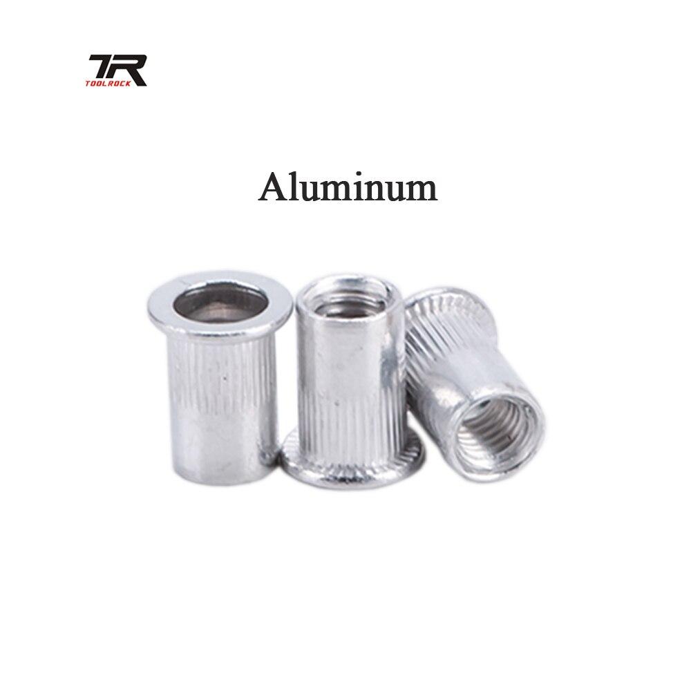 20 piezas M5 M6 M8 de aluminio Rivnut remache roscado insertar herramienta Nutsert tuerca de remache