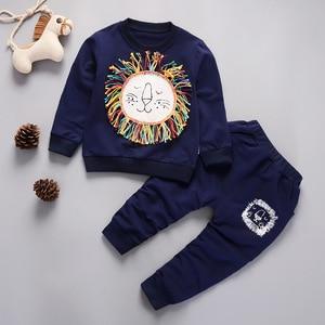 2021 Spring Autumn Baby Fashion Clothes Toddler Cotton Sportswea Kid Boys Girls TShirt Pants 2Pcs/sets Children Infant Clothing