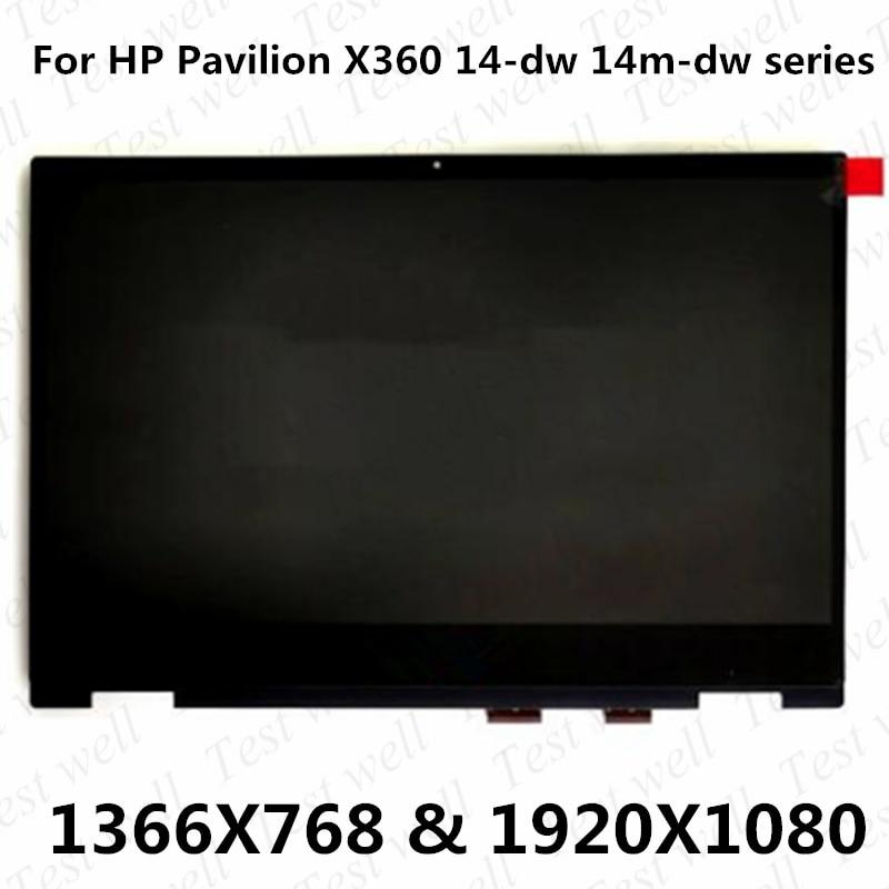 الأصلي LCD مع مجموعة رقمنة اللمس ل HP 14-dw 14-dw0520sa 14-dw0521sa 14-dw0522sa 14-dw0003nl 14-dw0004nl 14-dw0006nl