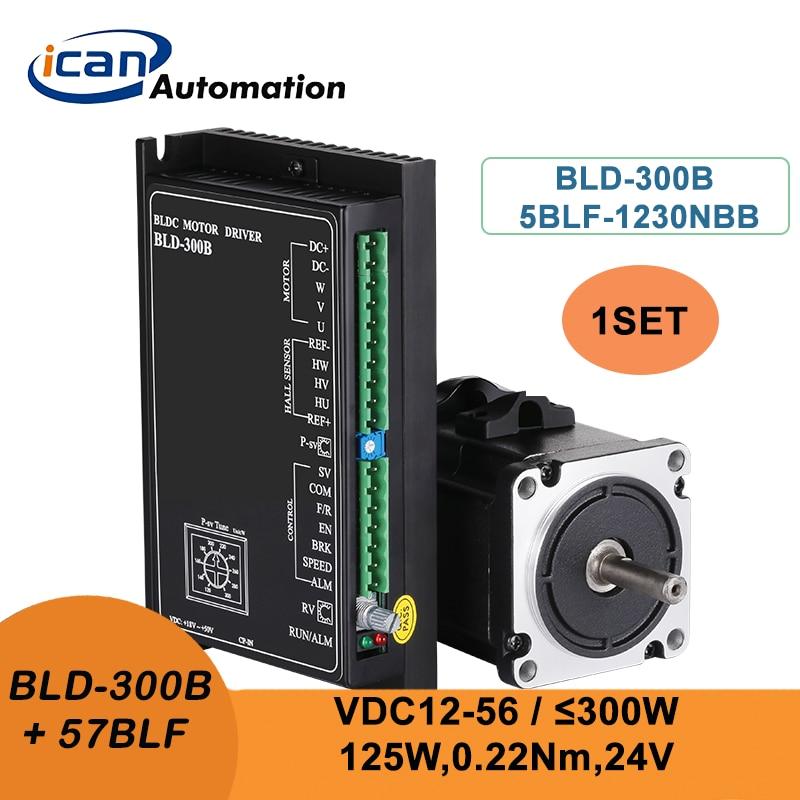 ICAN BLDC المغناطيس الدائم معدات موتور 125 واط 24 فولت BLD-300B 300 واط سائق قاعة هادئة فرش السيارات