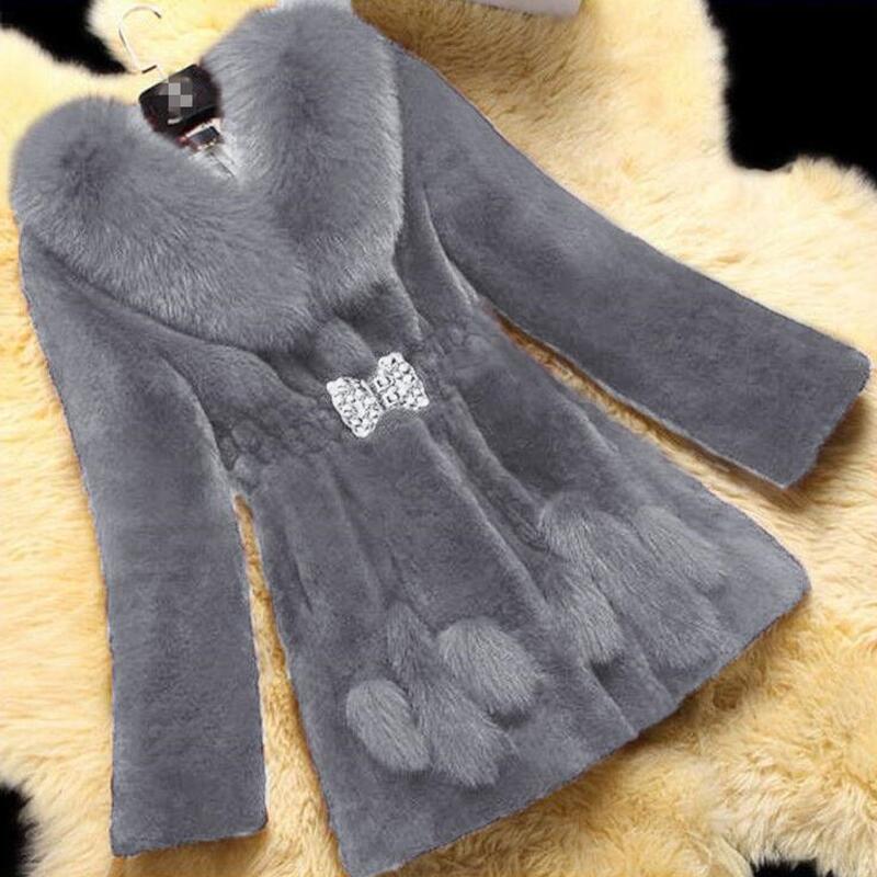 Новинка, женское меховое пальто, зима 2021, Женская куртка, женские пальто из искусственного меха, теплые длинные модные женские куртки, верхн...