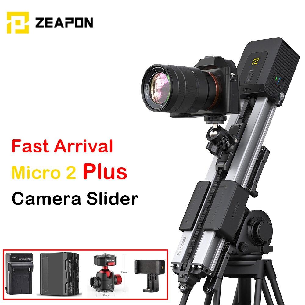 Zeapon مايكرو 2 زائد كاميرات DSLR المنزلق المحمولة السفر المسافة 54 سنتيمتر/21in 4.5 كجم كل اتجاه قدرة حامل كاميرا متحرك بمحركات