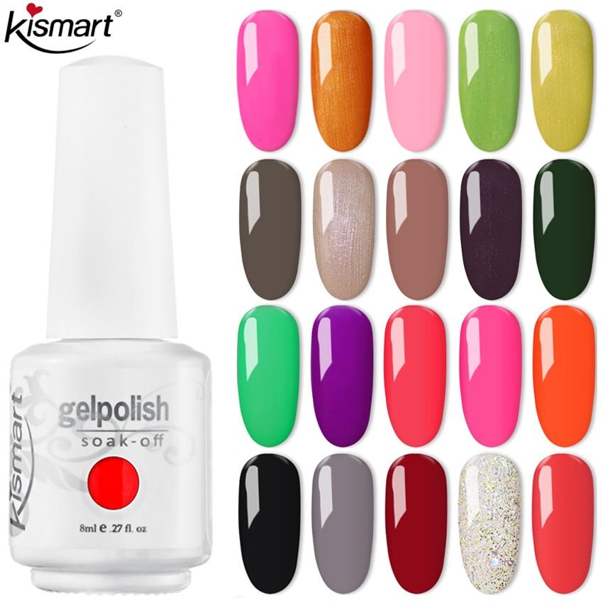 Kismart Nail Gel Manicure for Nails Semi Permanent Varnish Gel Polish UV LED Nail Art Soak Off Gel Nail Polish UV Gel Varnish недорого