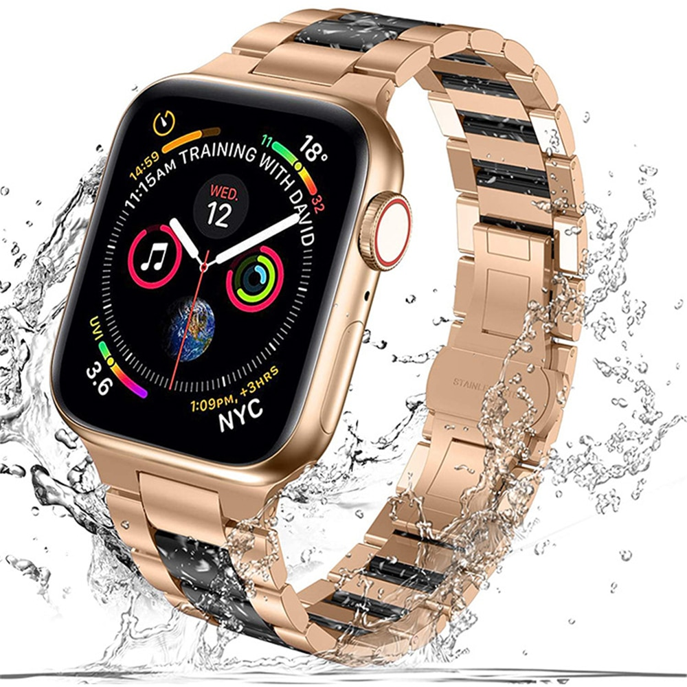 For Apple Watch Se 6 Band 44mm 40mm Upgrade Adapter Bracelet for Iwatch 6 5 4 3 42mm 38mm Strap Stainless Steel Resin Watchband enlarge
