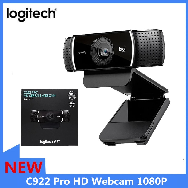 Logitech C922 Pro HD Webcam 1080P Autofocus Built-in Microphone  Stream HD Anchor Camera With tripod