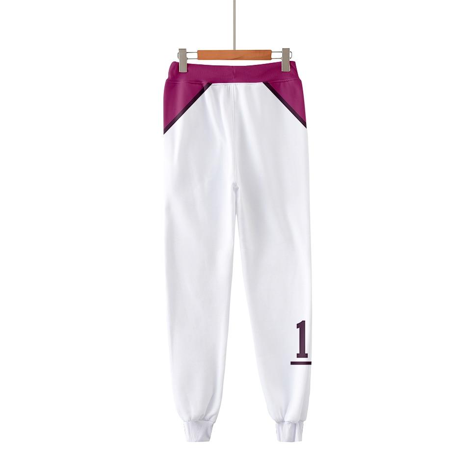 Adolescentes hombres/mujeres pantalones Haikyuu Ushijima Wakatoshi niños niñas Pantalones deportivos moda Popular tendencia cómoda pantalones de Anime Casual