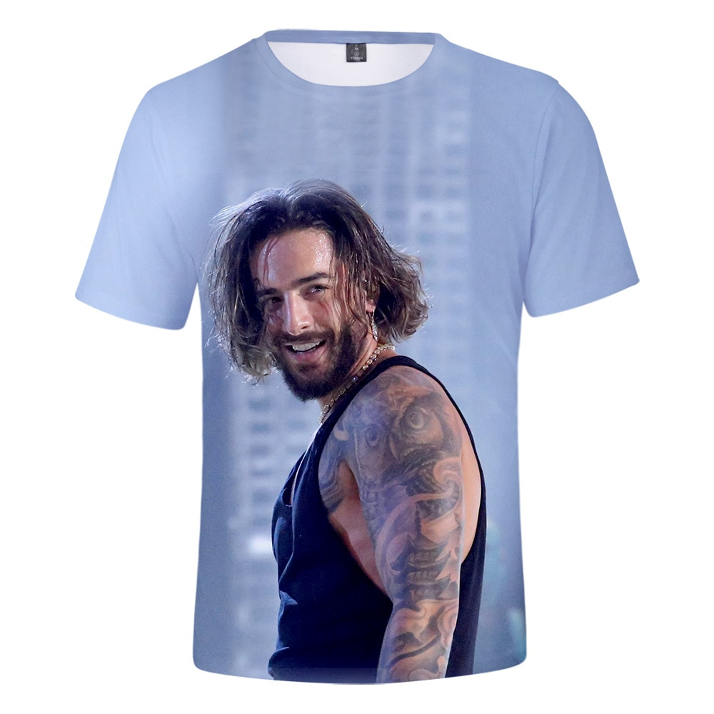 Cómoda camiseta Casual Maluma a la moda bonita y Popular para hombres y mujeres, camiseta de verano adecuada para niños y niñas, camiseta 3D, camiseta