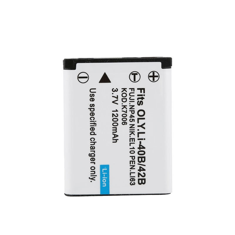 NP-45 NP-45A batería + cargador para Fujifilm FinePix XP70 XP60 XP50 T550 JX700 tipo 1 unidad NP-45 batería