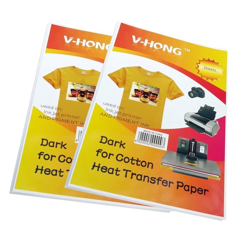 8.3x11.7inch T-shirt ceramics Non pure cotton sublimation paper V-HONG brand Dark and light color textil heat transfer paper