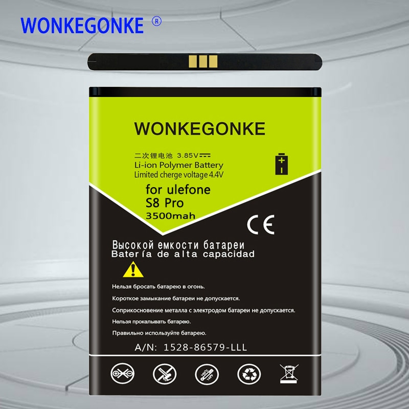WONKEGONKE für ulefone S8 S8 Pro batterie 5,3 zoll MTK6737 MTK6580 Handy Batterien Bateria