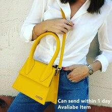 Jacquemus High Quality Leather Messenger Bag for Female Handbag Tote Vintage Crossbody Bag Clutch Pu