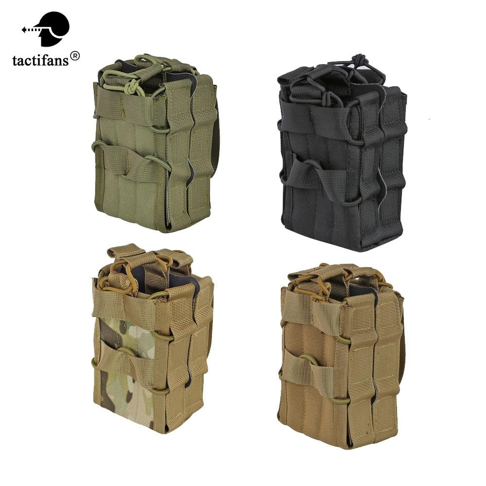 Tactical AK 7.62 M4 5.56 Bolsa de revista 1000D Nylon Molle System Bolsa de almacenamiento de doble capa Airsoft Rifle Hunting Accessories