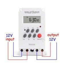 12V entrée cc 7 jours Programmable 24hrs MINI minuterie interrupteur temporisation relais sortie charge haute puissance 30A