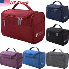 New Women Large Cosmetic Bag Oxford Fabric Case Makeup Bag Storage Handle Organizer Travel Kit