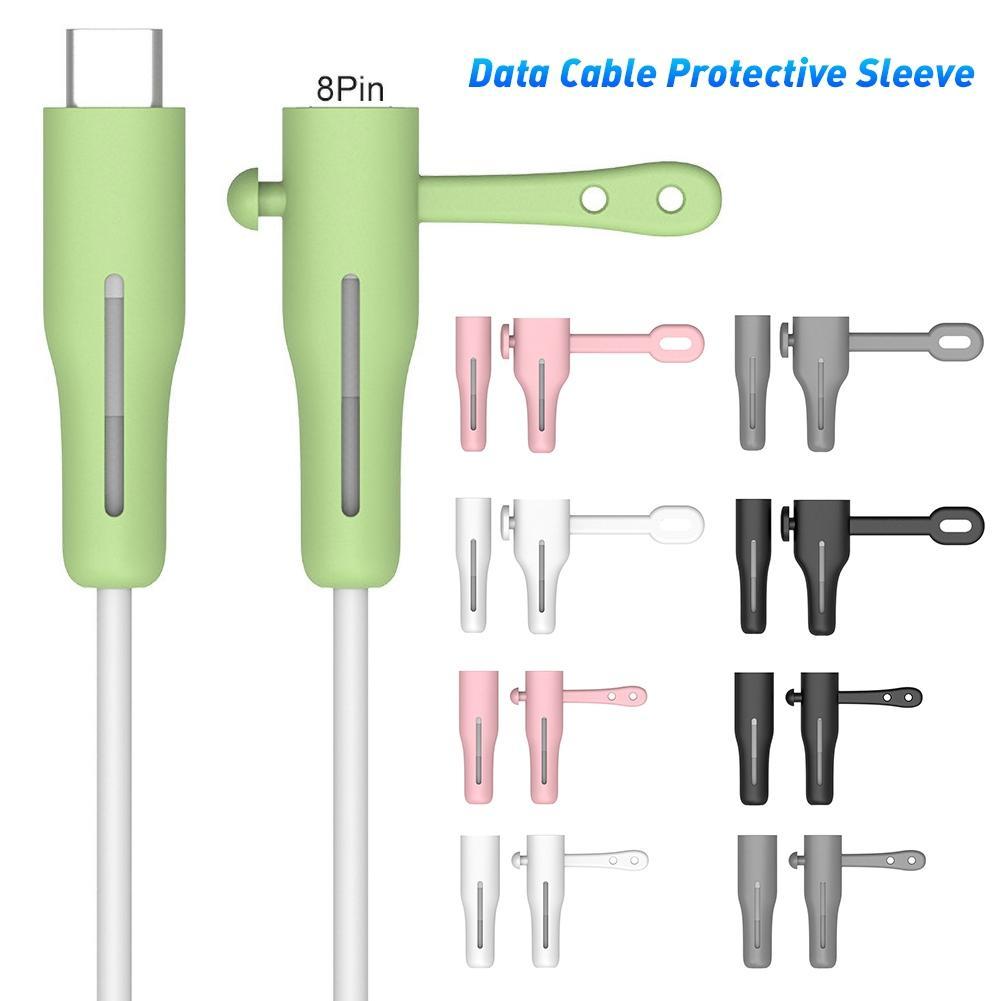 Износостойкий протектор кабеля для передачи данных Портативный Силиконовый AtoL/CtoL USB зарядный кабель защитный чехол для iPhone AtoL CtoL