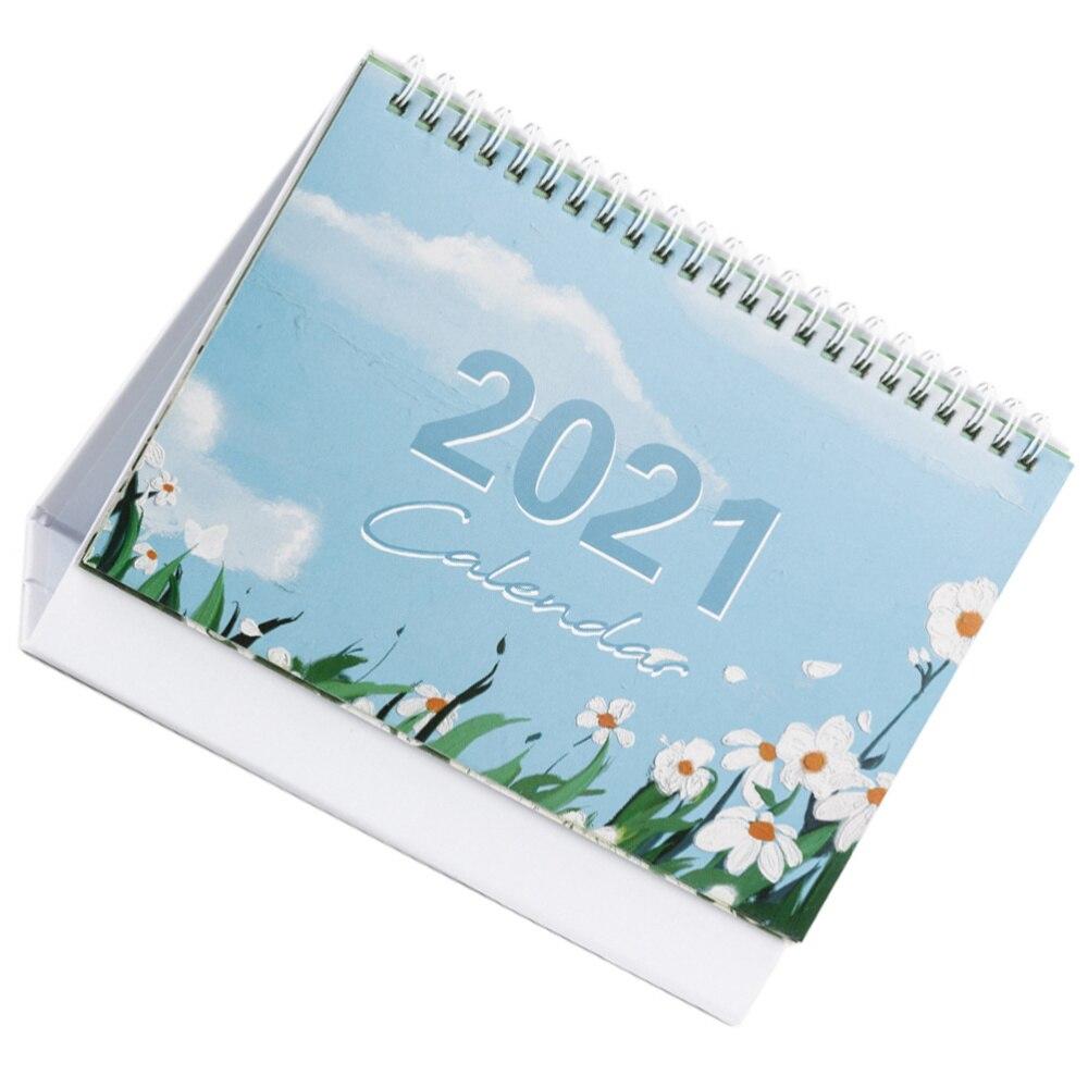 1pc 2021 Calendar Daily Schedule Planner Home Desk Calendar (Random Style)