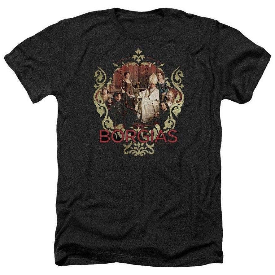 Camiseta Trevco para hombre Borgia Pope Alexander Vi para adultos brezo negro medio 191782038913 20 30 40 50 cumpleaños camiseta