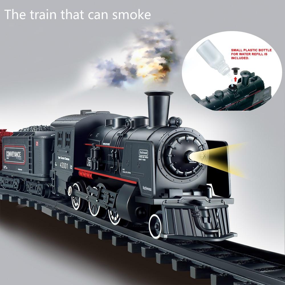 Smoke Classical Freight Train Water Steam Locomotive Playset Battery Operated Railway Simulation Model Electric Train Toy Gifts duskey rinker sherri steam train dream train
