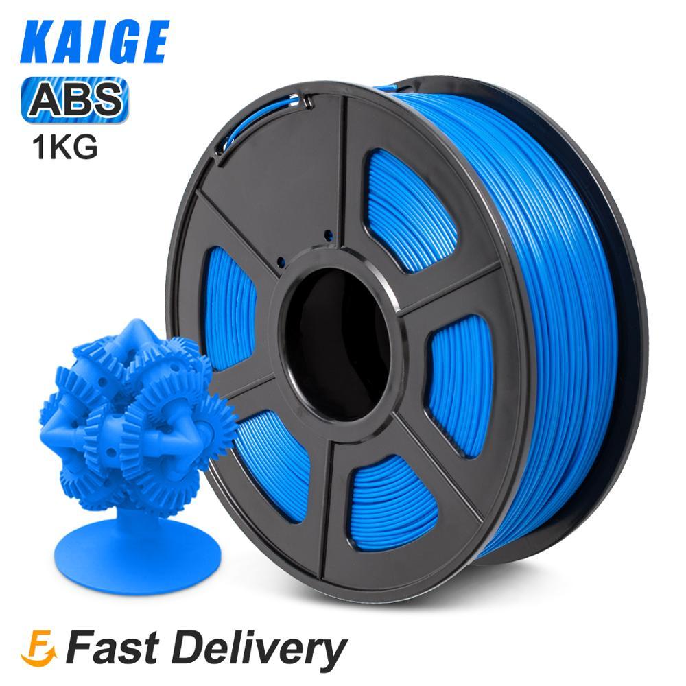 KAIGE ABS 1.75 مللي متر 1 كجم لكل لفة خيوط طابعة ثلاثية الأبعاد متعددة الألوان 100% لا فقاعة التسامح +/-0.02 مللي متر للطباعة ثلاثية الأبعاد لتقوم بها بنف...