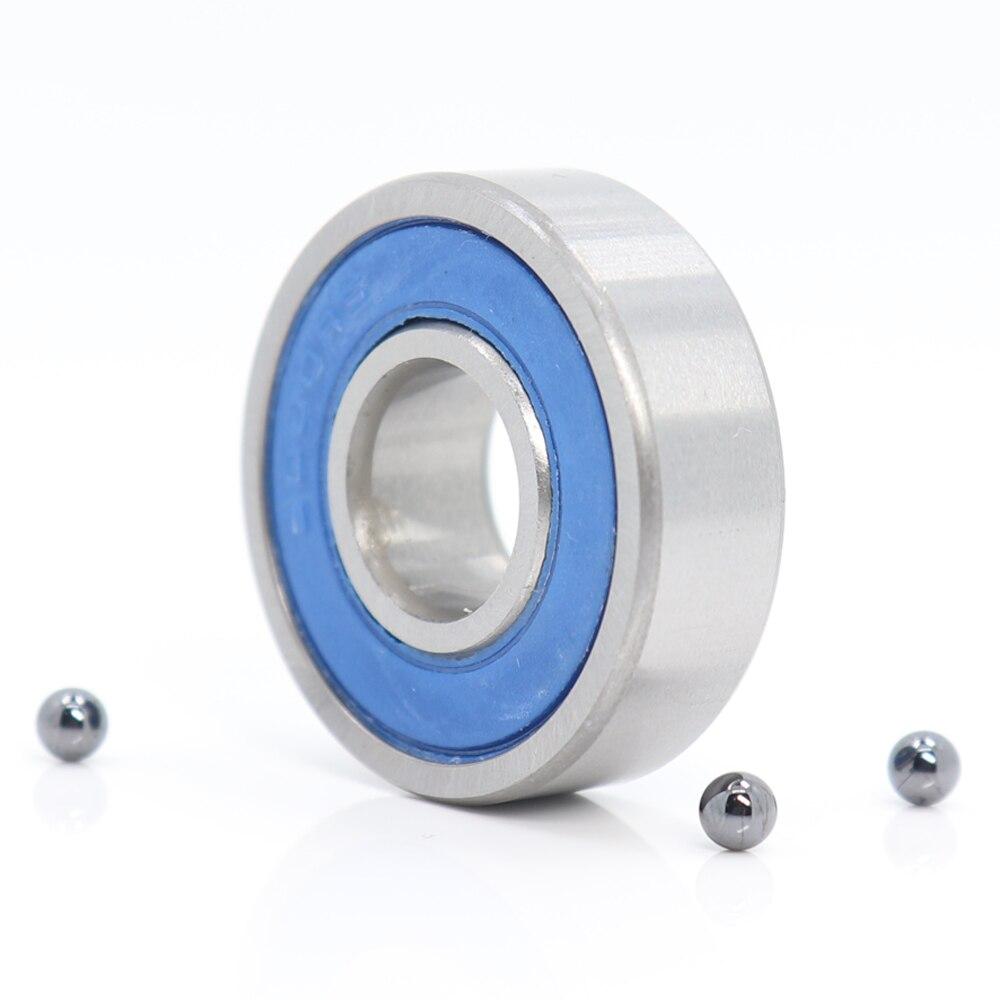 6000 rodamiento de cerámica híbrido 10x26x8mm ABEC-1 (1 PC) rodamientos inferiores de bicicleta y punteros 6000RS Si3N4 rodamientos de bolas