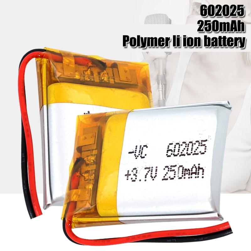3,7 V 250mah 602025 Li-polymer Akku Für PSP Smart Uhr LED Lampen Bluetooth Lautsprecher Mini Kameras