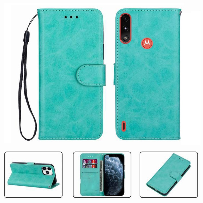 aliexpress.com - For Motorola Moto E7 Power 6.51″ E7Power E7i PAMH0001IN Wallet Case High Quality Flip Leather Phone Shell Protective Cover Funda