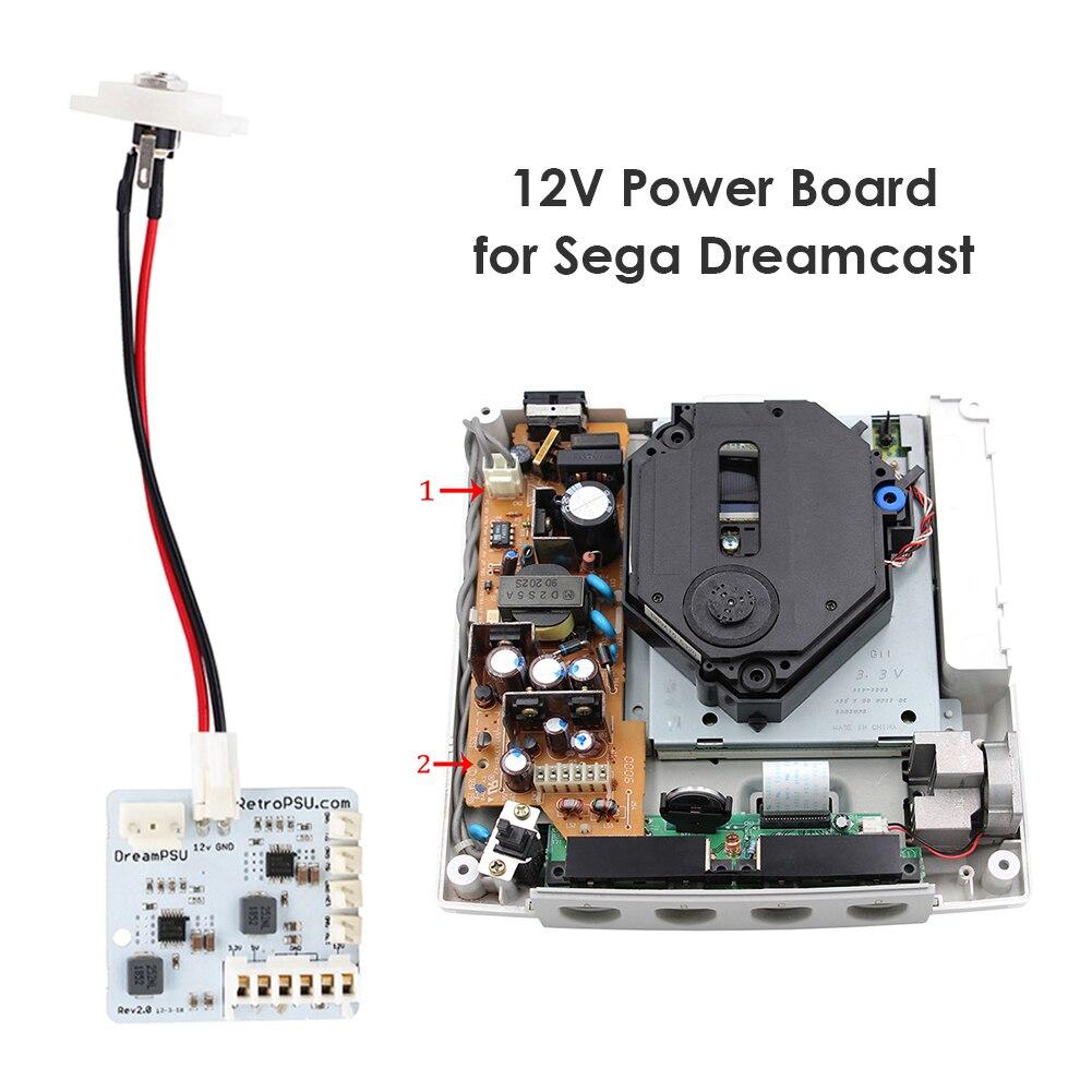 ل DreamPSU Rev2.0 12 فولت امدادات الطاقة Mod آلة إلكترونية اكسسوارات ل SEGA DreamCast لعبة وحدة التحكم استبدال أجزاء
