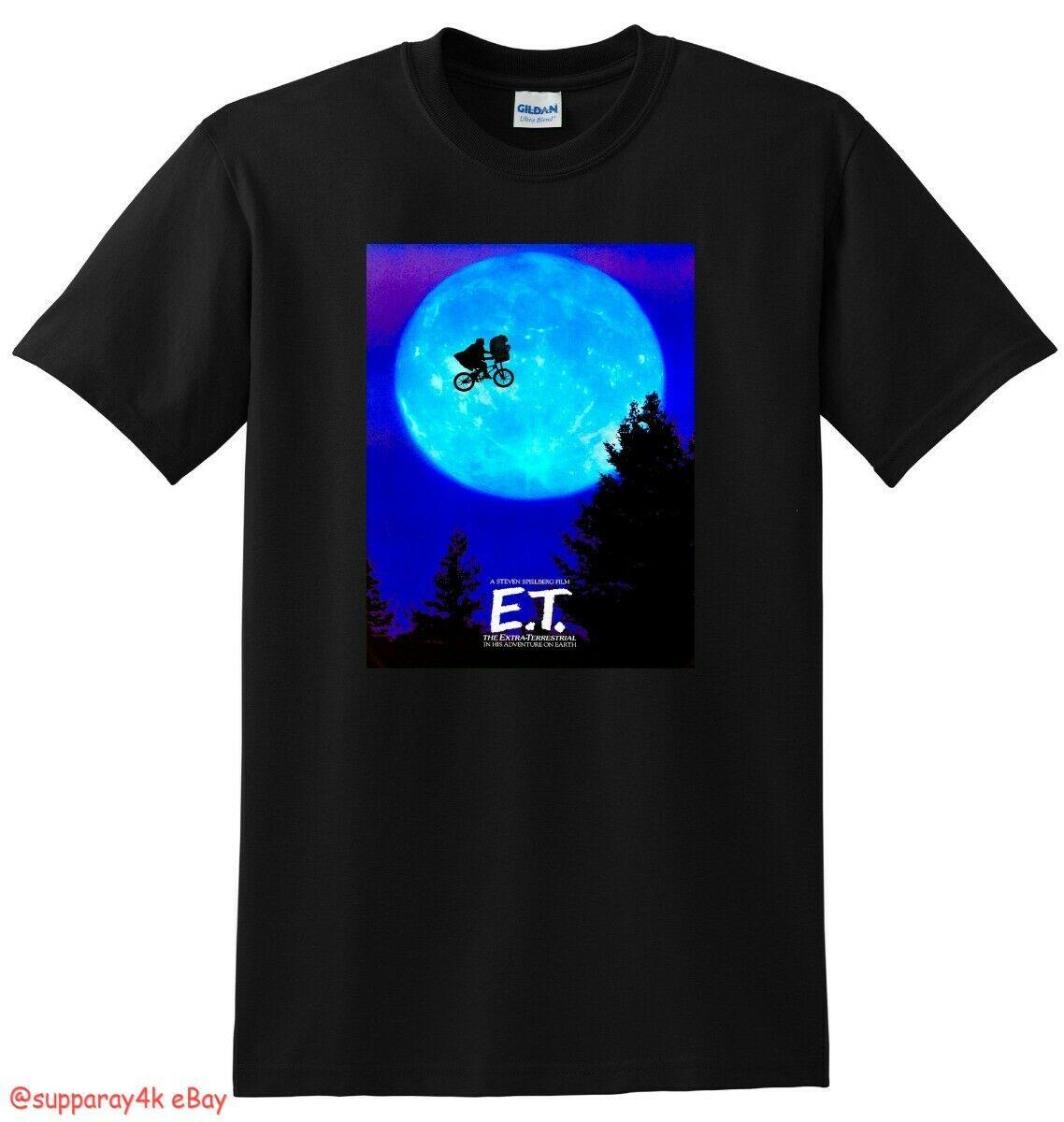 Novo et t camisa extra terrestre 4k bluray dvd capa pequeno médio grande xl