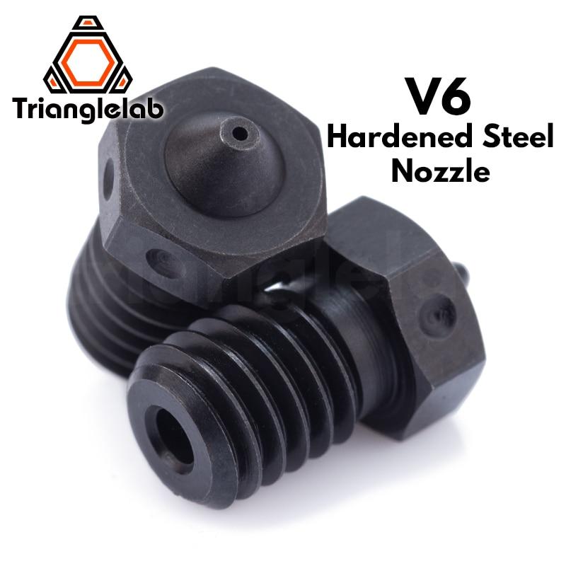 Trianglelab 1pcs Top Quality A2 Hardened Steel V6 Nozzles For Printing Pei Peek Or Carbon Fiber Filament For E3d Hotend Nozzle E3d V6 Nozzle Steelnozzle E3d Aliexpress