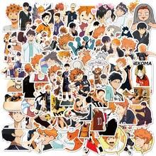 ¡10/50/102 unids/set Haikyuu! Pegatinas de grafiti de voleibol, Anime japonés para maleta, portátil, equipaje, motocicleta, teléfono, monopatín