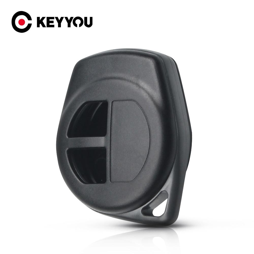 Keyyou Voor Suzuki Igins Alto SX4 Vauxhall Agila 2005-2010 Vervanging Fob Shell Silicone Cover Pad Key 2 Knoppen remote Key Case