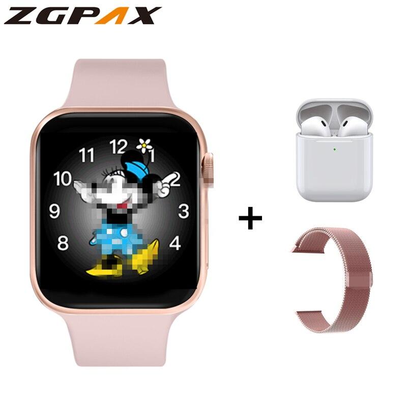 ZGPAX למעלה IWO smartwatch מלא מגע S8 מקסימום חכם שעון קצב לב Bluetooth שיחת מוסיקה כושר Tracker עבור IOS אנדרואיד טלפון