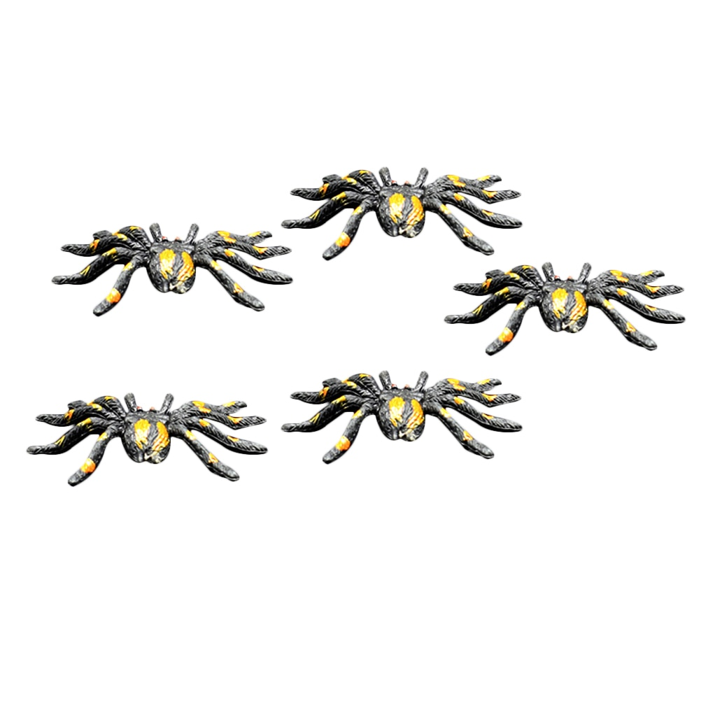 12pcs Realistic Fake Spiders Creepy Lifelike Spiders Horror Decorations Props Prank for Club Pub Haunted House