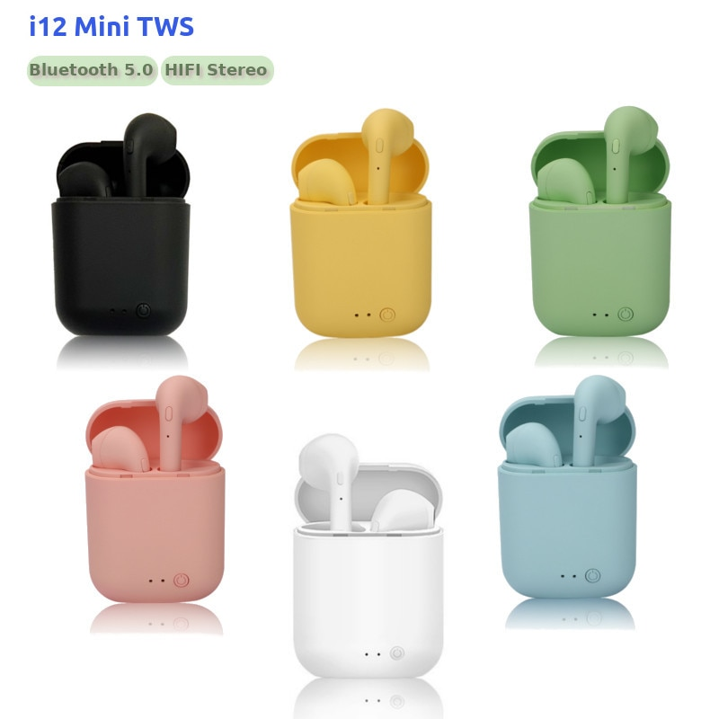 Auriculares TWS i12, inalámbricos por Bluetooth 5,0, estéreo HIFI, pk i7s, i9s, i11, i15, i20, i30