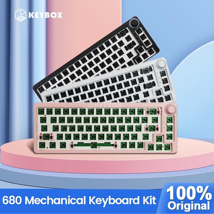 TM680 الساخن مبادلة الميكانيكية لوحة المفاتيح عدة لاسلكية 3 وضع RGB متوافق مع 3/5 دبابيس ل الكرز Gateron Kailh الطلب المقبض لوحة المفاتيح