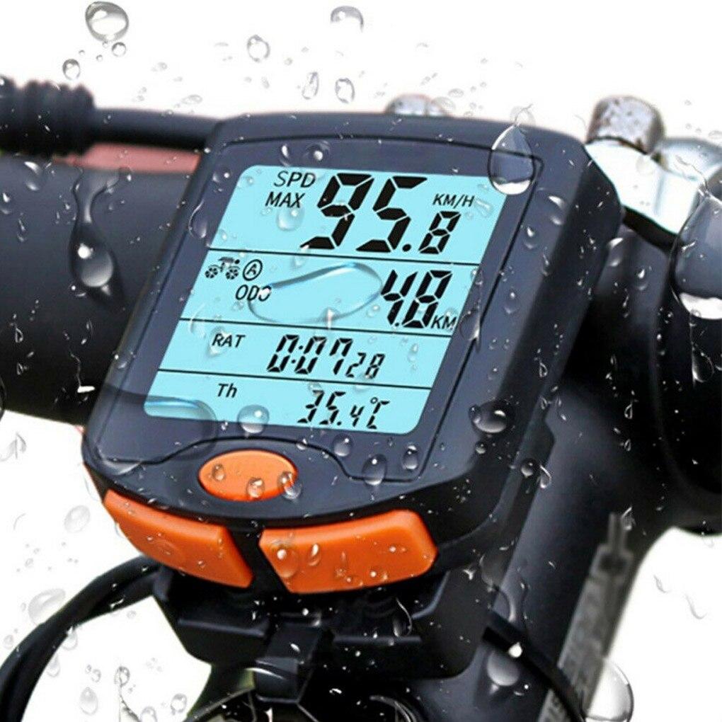 Ordenador YT-813 bicicleta LCD con cable Medidor de velocidad de bicicleta Digital ciclismo impermeable multifunción de odómetro bicicleta cronómetro de ordenador