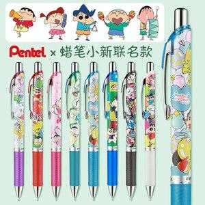 Japanese PENTEL Cartoon Crayon S-C Limited Kawaii Pen Gel Ink Black 0.5mm Energel Fast Dry Pens Cute School Supplies Stationery