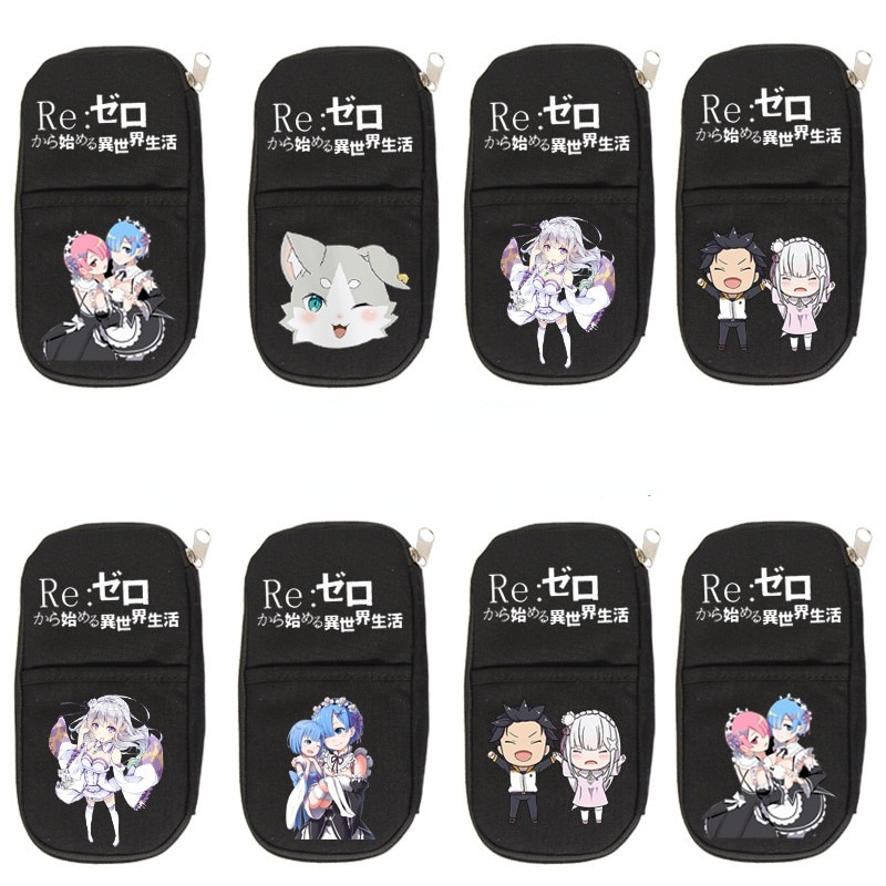 Re:Life in a different world from zero Pencil Case School Supplies Student Pen Bag Boys Girls Pencil