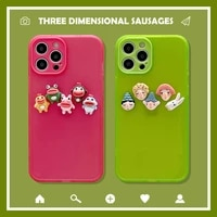 3d cute cartoon animal fluorescence korean phone case for iphone 12 11 pro max x xs max xr 7 8 plus se 2020 cases soft tpu cover