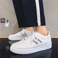 men platform shoes fashion sneakers brand mens casual shoes high quality pu solid color new breathable women shoes
