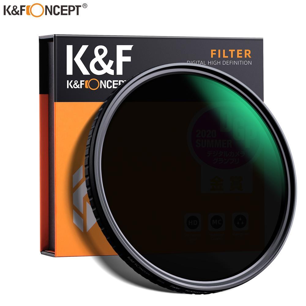 K & F مفهوم ND2-ND32 ترويسة ND تصفية عدسة محايد الكثافة متغير متعددة طبقة نانو المغلفة 49 مللي متر 52 مللي متر 58 مللي متر 62 مللي متر 67 مللي متر 77 مللي مت...