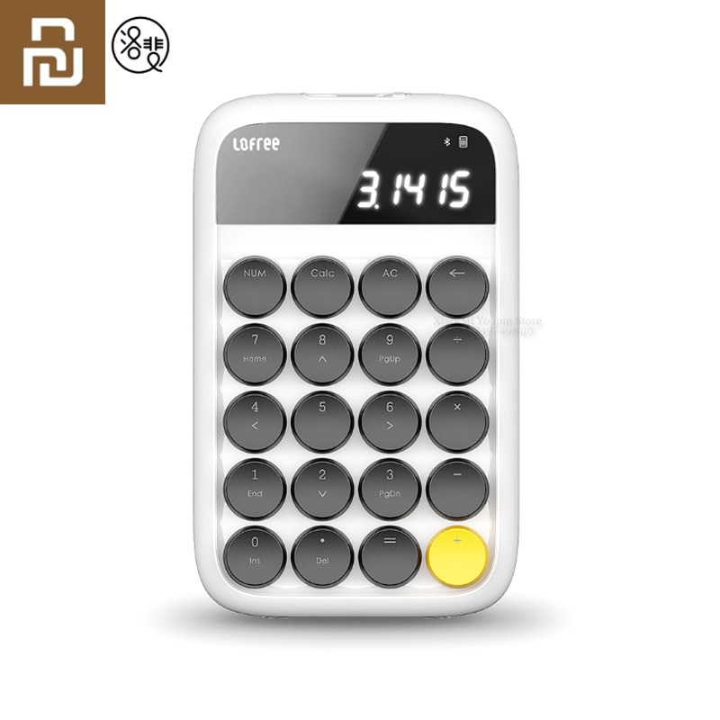 Youpin lofree bluetooth teclado numérico multi-sistema compatível backlit teclado micro usb 800 mah capacidade calculadora inteligente